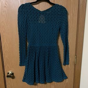 Green lacy knit dress from Altar'd state